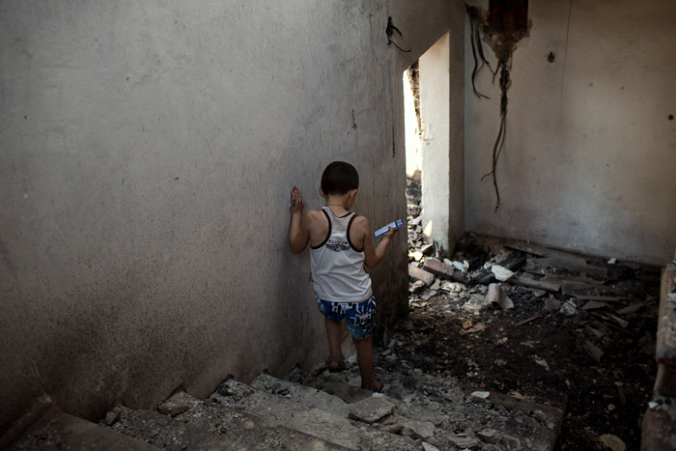 Photo from the report Collateral - The human cost of explosive violence in Ukraine. © Dirk-Jan Visser / PAX