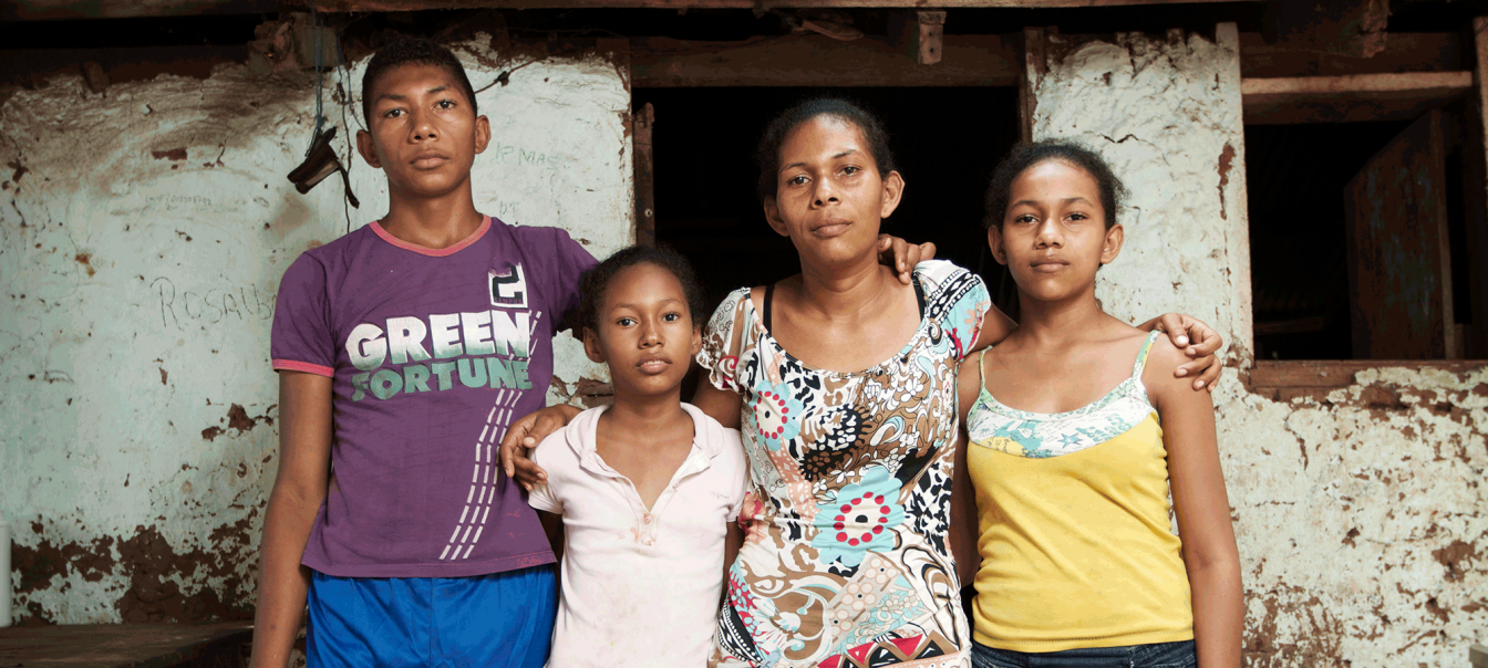 Victims of coal mining in Colombia. Photo Ronald de Hommel