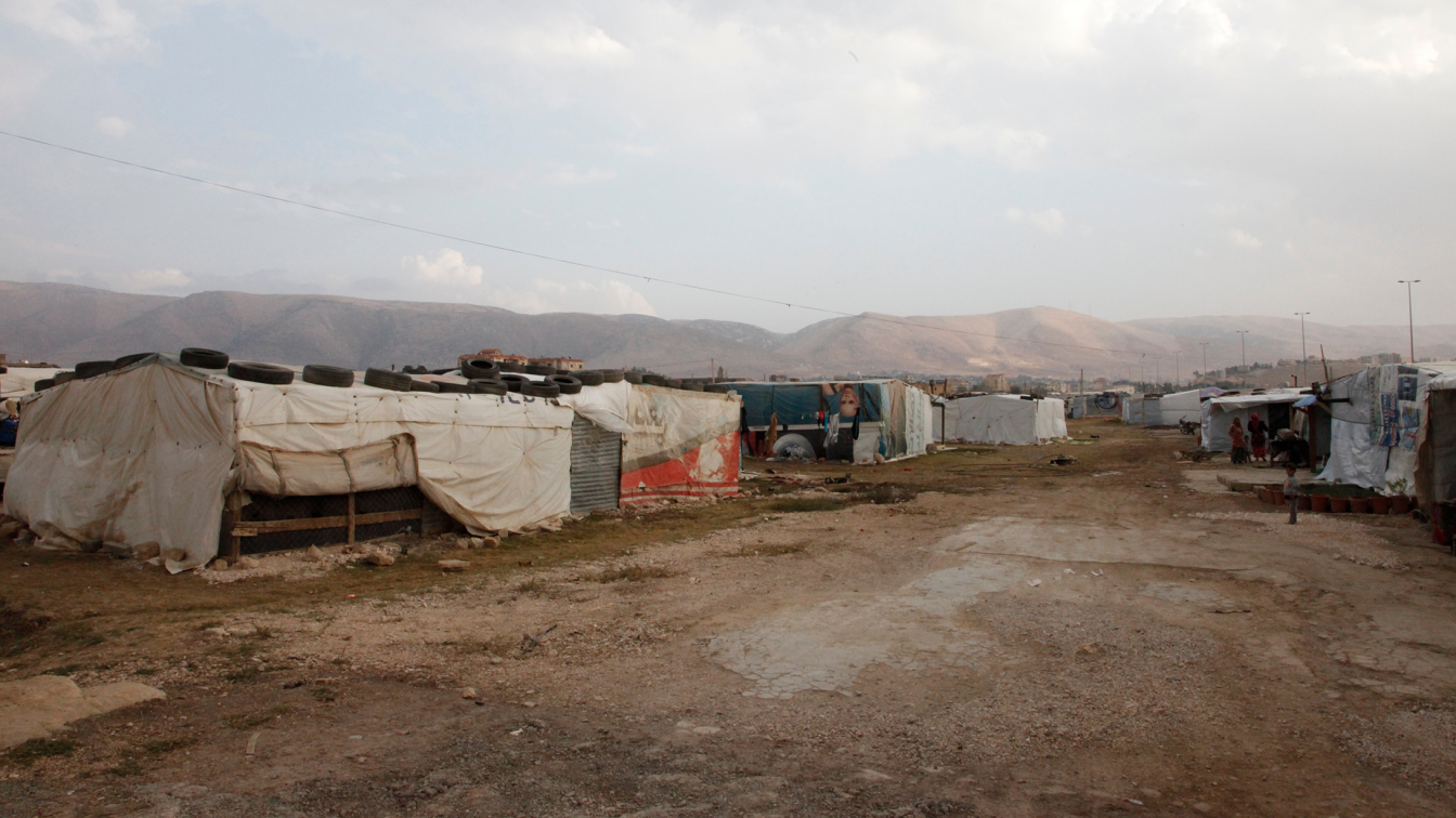 A Refugee Camp in Lebanon. Photo Russell Watkins/DFID Wikimedia CC by 2.0