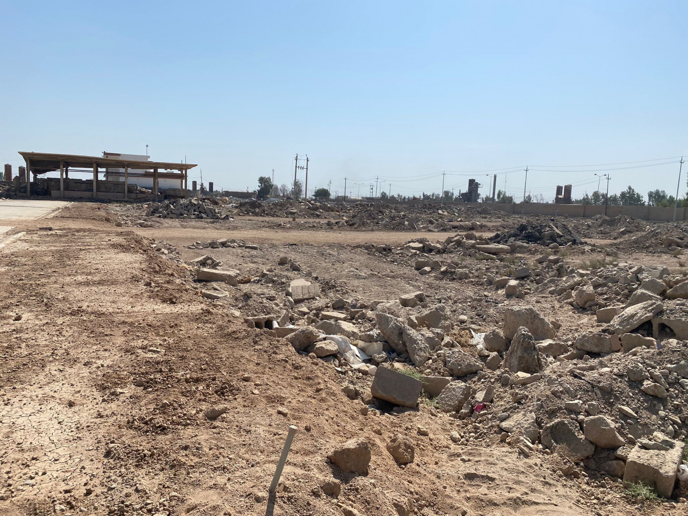 The site where an ISIS IED factory was bombed by the Netherlands. Photo Roos Boer / PAX