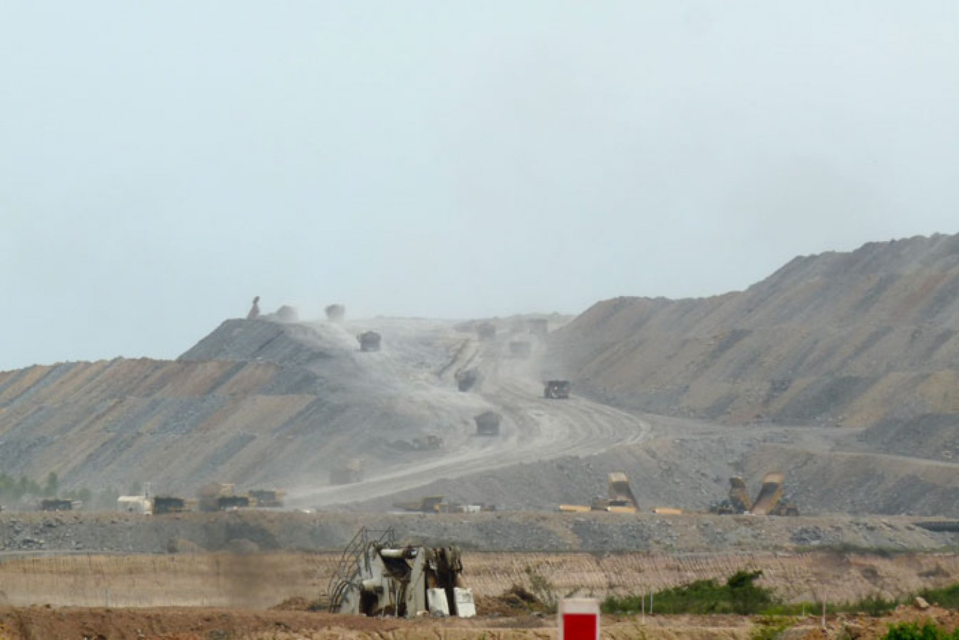 Open-pit mining in Colombia